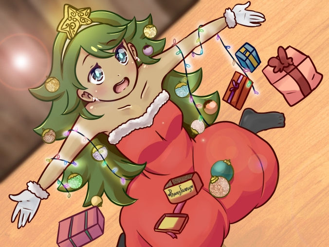 christmas trees as a anime girl marca